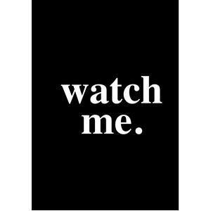 watch me - a5 planner