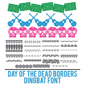 day of the dead borders dingbat font