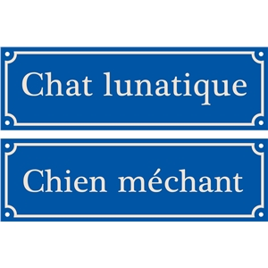 mad dog lunatic cat sign french sign