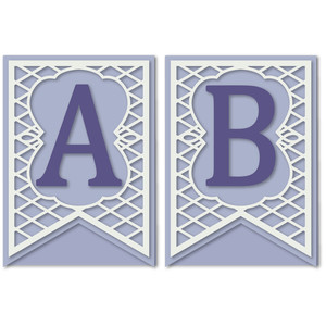 pennant lattice card letters a b