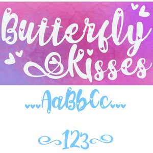 butterfly kisses font