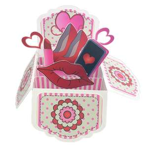 5x7 valentine pop up card in a box