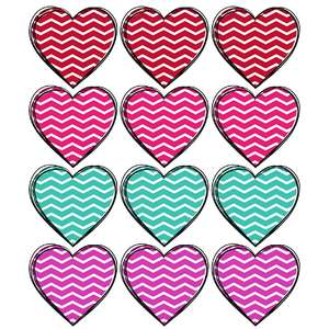 chevron heart stickers