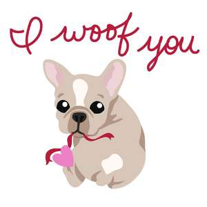 i woof you valentine