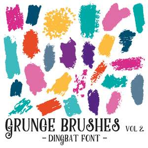 grunge brushes vol 2 dingbat font