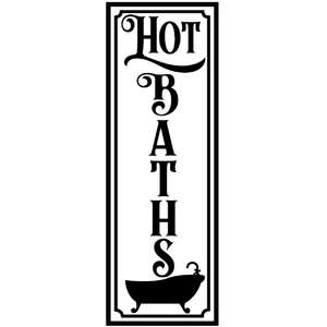 hot baths vertical sign