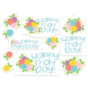 may day stickers and tags