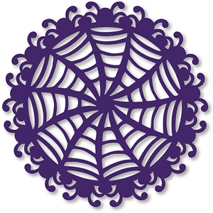 spider web doily background