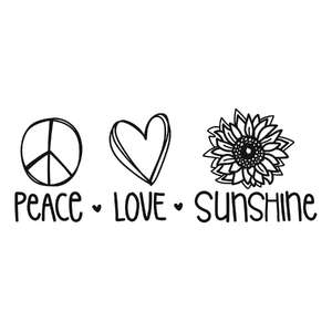 peace love and sunshine