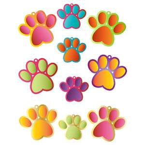 dog paw gift tags
