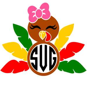turkey girl monogram