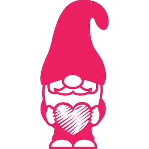 gnome with scribbled heart