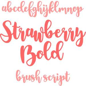 strawberry bold brush script