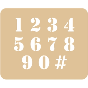 number stencil / template