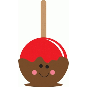 happy candy apple character