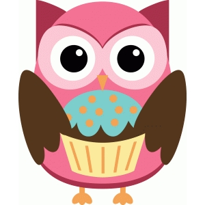 party owl with cupcake
