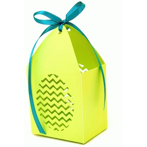 zig zag egg favor box