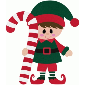 elf holding candy cane christmas - Candy Cane Christmas