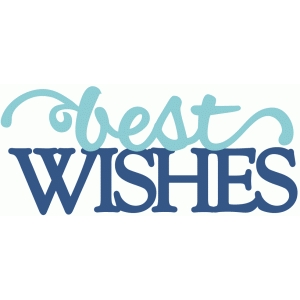 best wishes - layered script phrase