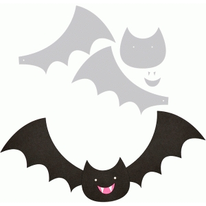 happy bat with movable wings
