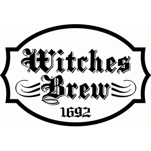 'witches brew' halloween label saying