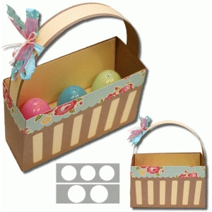 3d tall easter basket