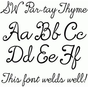 SW PAR-TAY Thyme Font #57535