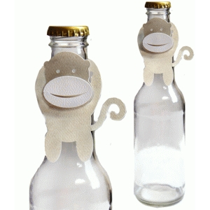 monkey party bottle topper