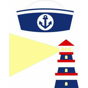 sailor beret & lighthouse