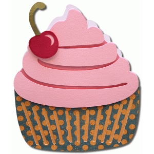 cupcake shaped card