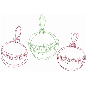 sketch ornaments