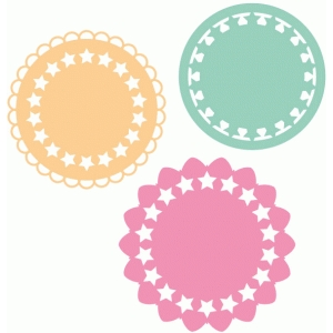 set of star doilies