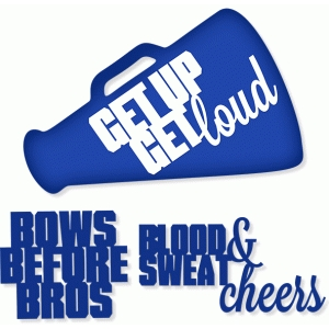 megaphone and cheer sayings