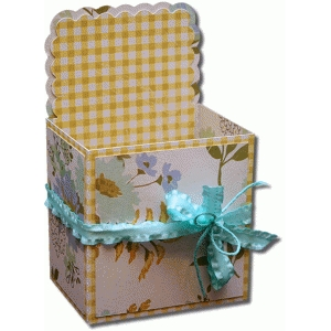 3d square scallop label decorative gift box