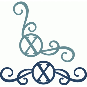 monogram seal flourishes x