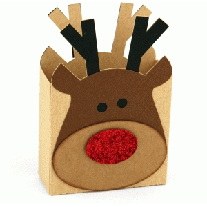 3d large reindeer gift box