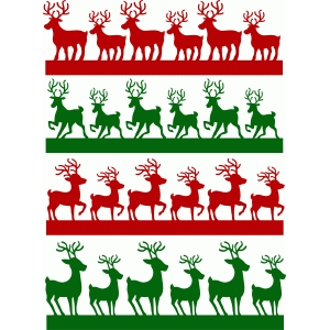 christmas reindeer borders set