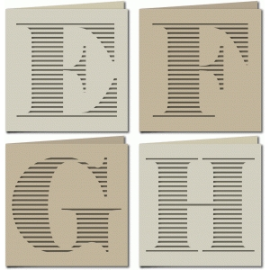 stripe monogram card efgh