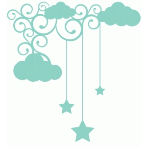 cloud flourish star drop corner