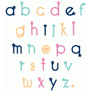 star lower case alphabet