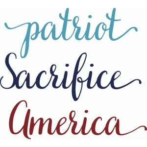 patriotic words set