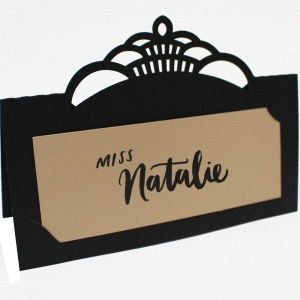 simple fancy place card