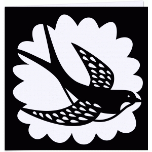 swallow papercut 5x5 card