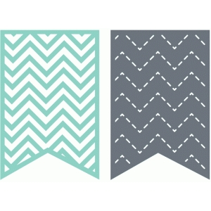 set of 2 chevron banners