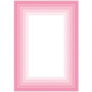 nested stitched rectangle frames