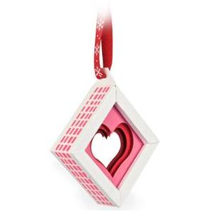 3d heart christmas tree ornament shadow box