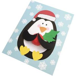 penguin lip balm card