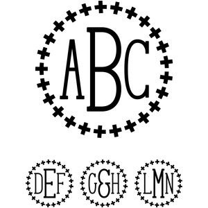 monogram serif font - plus sign
