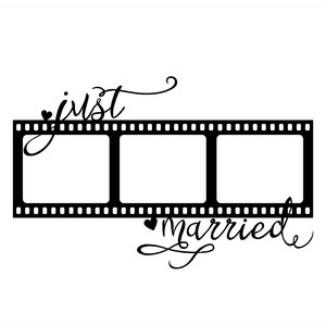 just married film frame