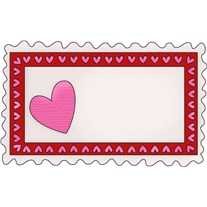 valentine rectangle frame